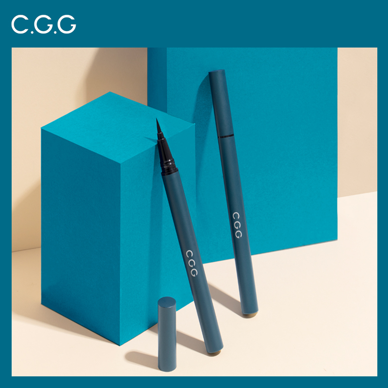CGG eyeliner, female, waterproof, non staining, lasting novice beginner, anti sweat net, red very fine Pencil Eyeliner.
