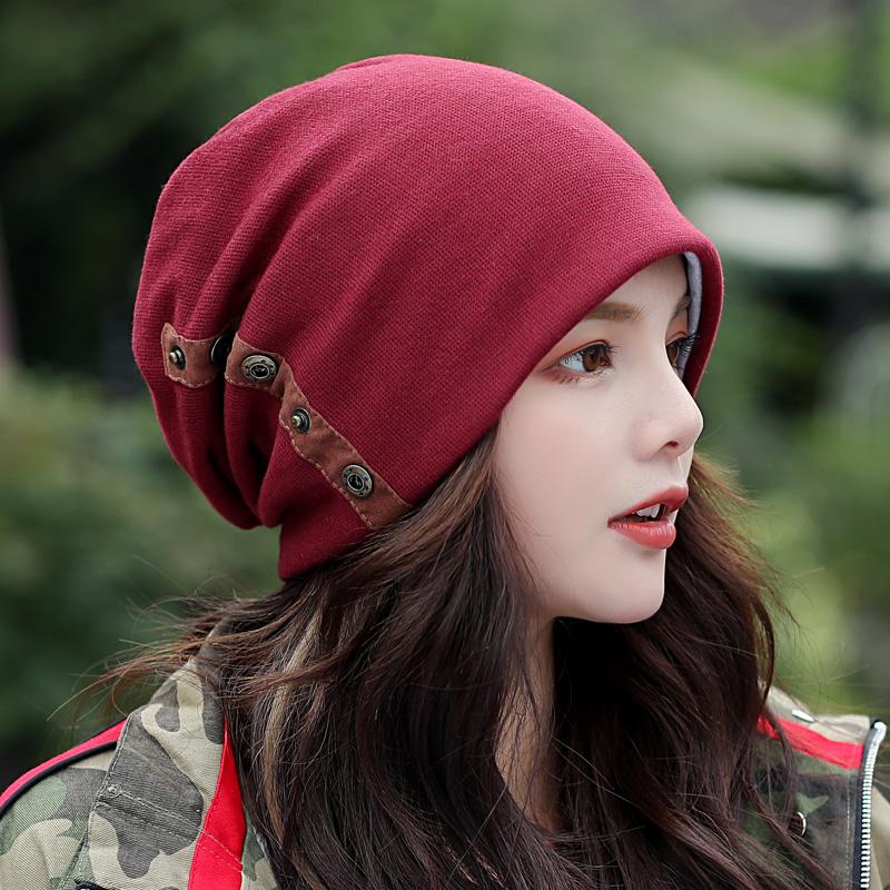 时尚套头帽秋冬双层户外韩版包头帽