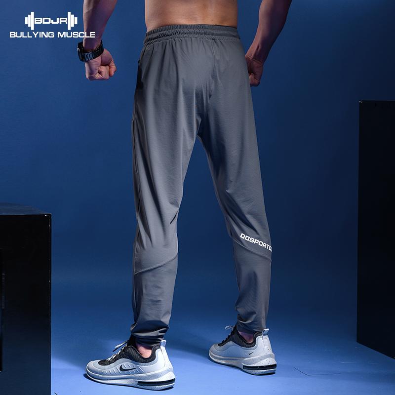 霸道肌肉运动健身长裤男夏季薄款宽松小脚收口束脚速干跑步训练卫图片