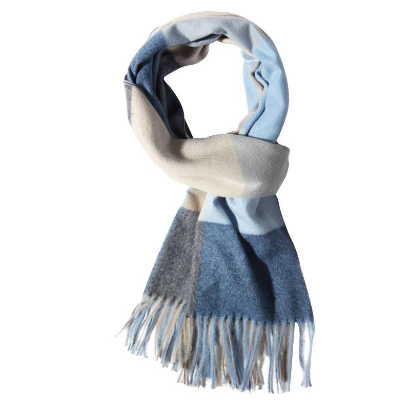 上海故事男士秋冬季百搭經典英倫經典格子圍巾潮男生高檔針織圍巾