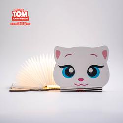 会说话的汤姆猫创意书本灯五色折叠卡通书灯USB充电LED小夜灯礼物