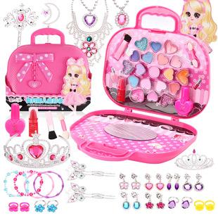 儿童化妆品套装水溶指甲油女孩公主彩妆盒演出眼影盘女童小孩礼物