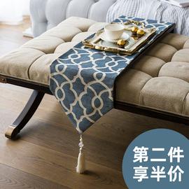 赫本家现代美式桌旗北欧式餐桌茶几装饰布桌布中式欧式电视柜鞋柜
