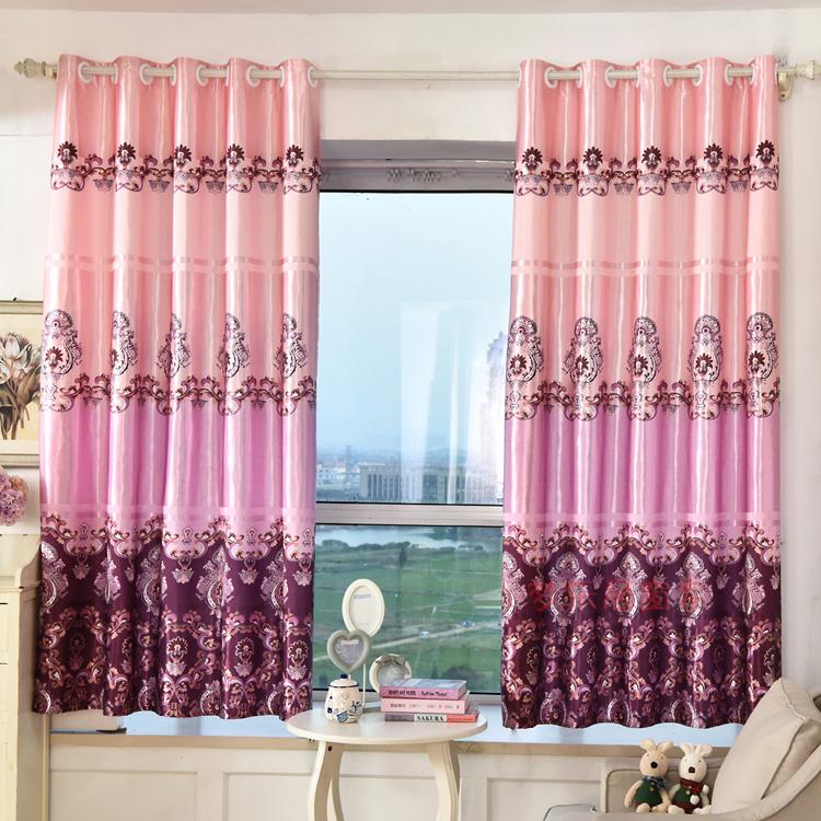 窗帘成品清仓飘窗短帘半帘 半遮光布卧室阳台窗帘2米高可定制12.74元包邮