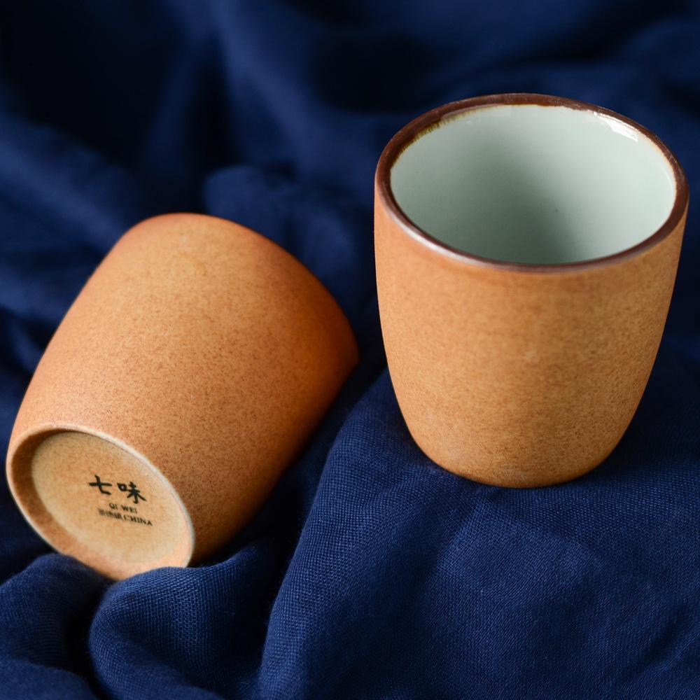 磨砂手工粗陶复古碗餐具和风陶盘餐盘碟子碗盘家用简约日式食器