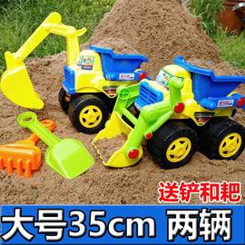 超大号沙滩工程车宝宝儿童玩具车耐摔推土机挖掘机铲车翻斗车模型图片
