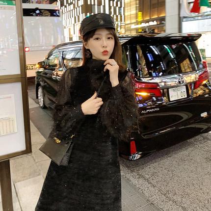于momo2019春装新款洋气流苏连衣裙套装女小香风仙女裙背心两件套