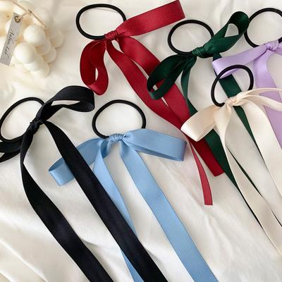 少女感~蝴蝶结飘带发绳甜美百搭丝带发带绑发头绳发圈橡皮筋发饰