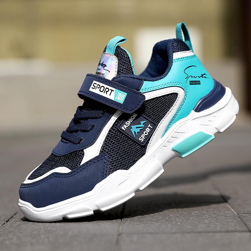 爆款网面男童鞋2021童鞋秋季保暖儿童运动鞋中大童跑步网布鞋