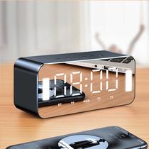 无线蓝牙音箱带闹钟显示屏家用手机便携迷你插卡电脑小音响低音炮大音量收款音响微信支付宝语音播报