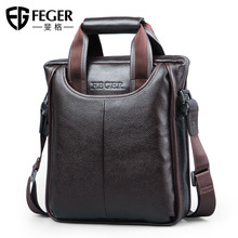 Figg Single Shoulder Bag Men's Leisure Slant Bag Business Briefcase Multifunctional Leather Bag Genuine Handbag Men's Bag