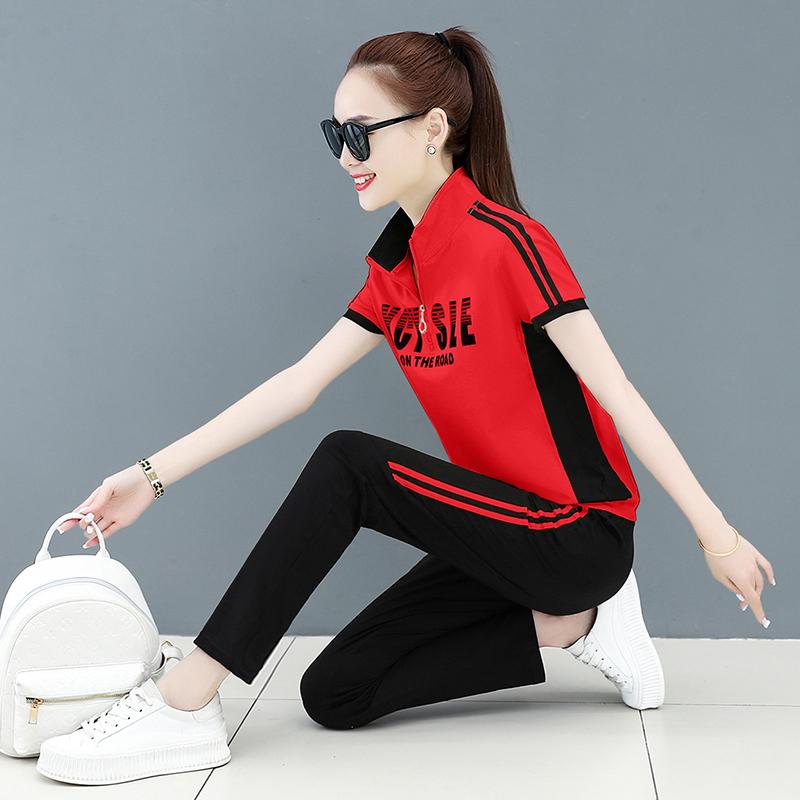 广场舞服装新款套装女杨丽萍运动短袖演出舞蹈曳鬼步舞中老年夏季