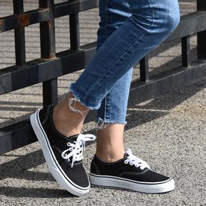 VANS AUTHENTIC低帮黑白经典款男女休闲帆布鞋滑板鞋VN000EE3BLK