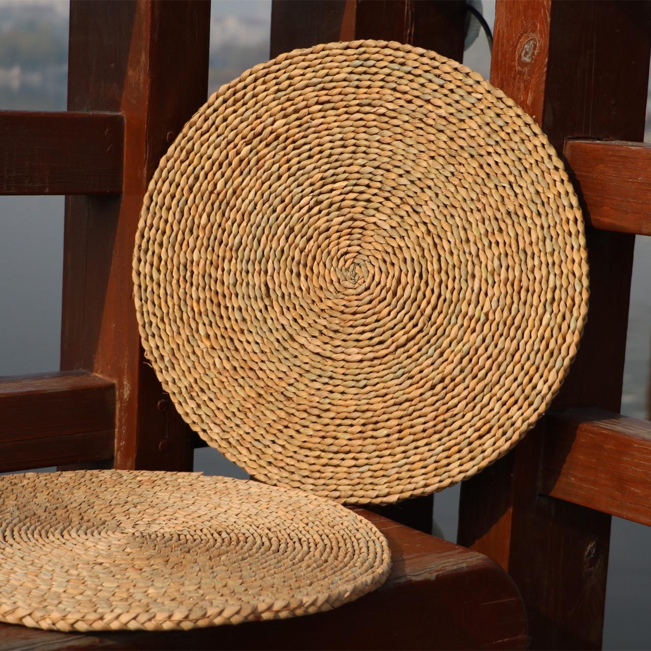 Futon round бесплатная доставка по китаю Ротанг и соломенный татами утепленный терка окно Подушка подушки подушки коврик йога коврик