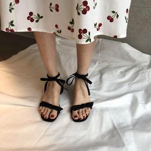 乌77小轻熟粗跟温柔色绒面女高跟鞋