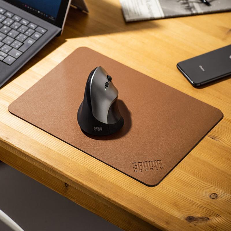 日本sanwa鼠标垫PU皮革游戏大号滑鼠垫办公大桌垫办公键盘鼠标垫