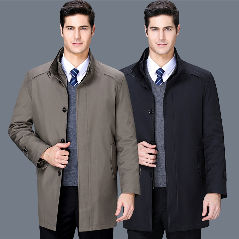 Hengyuanxiang authentic mens wear 2020 spring and autumn new fashion business casual cotton padded jacket middle aged mens windbreaker