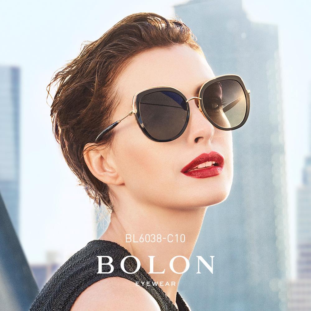 BOLON暴龙蝶形偏光板材金属太阳镜女潮流明星同款墨镜眼镜BL6038