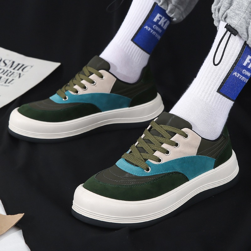 Hong Kong Style Mens 2021 new leisure running shoes student sports shoes thick soled low top Harajuku ulzzang mens shoes
