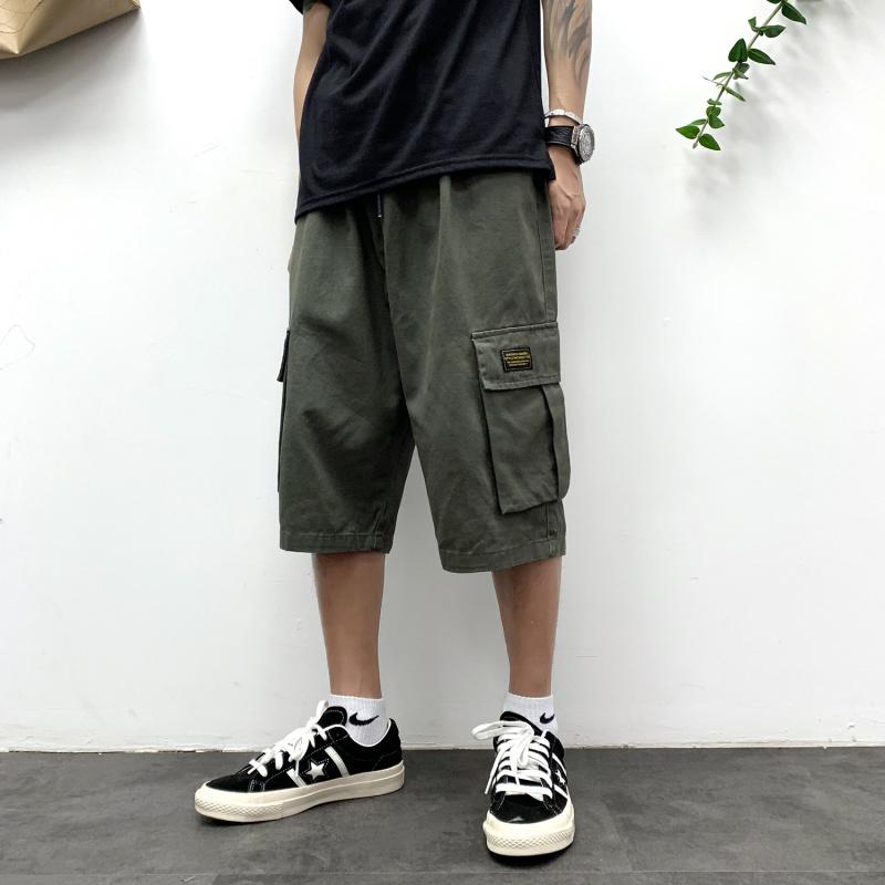 七分裤男韩版潮流宽松直筒休闲裤(非品牌)