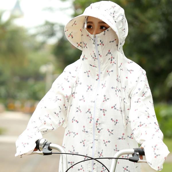 Поездка электрический мотоцикл солнцезащитный одежды одежда короткая женская лето хлопок затенение носить шляпу защита от ультрафиолетовых лучей на открытом воздухе ветер одежда