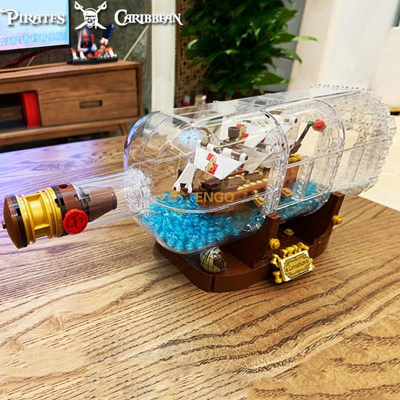 乐高21313加勒比海盗瓶中船成人拼装积木模型男孩女孩子玩具包邮
