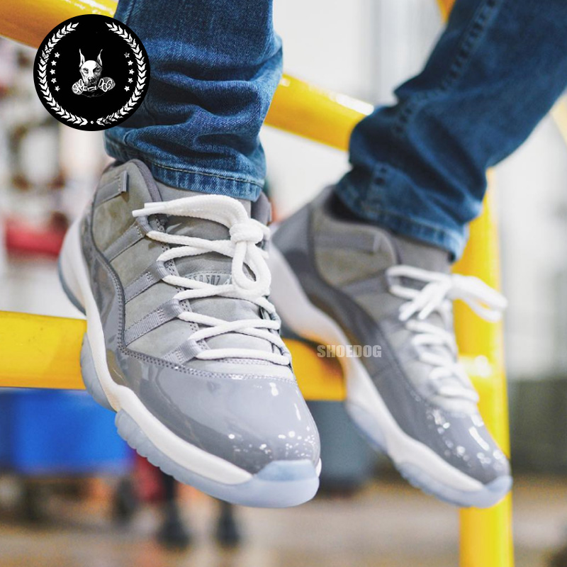 鞋狗SD Air Jordan 11 Low Cool Grey AJ11低帮酷灰 528895-003