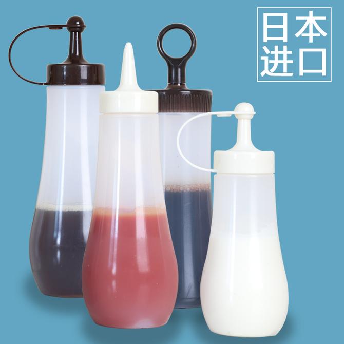 厨房防漏油瓶塑料油壶挤酱瓶果酱沙拉酱挤压瓶 日本进口蜂蜜尖嘴瓶
