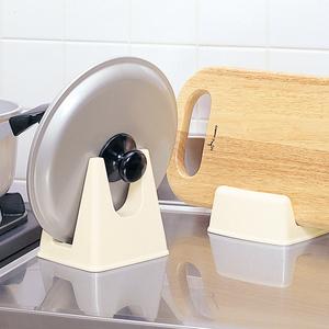 日本进口厨房锅盖架置物架锅盖砧板存放沥水架案板架放切菜板架子
