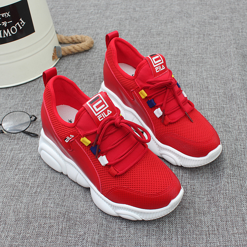 Dad sports shoes womens 2019 autumn leisure thick soled travel shoes womens Korean version versatile shoes for students