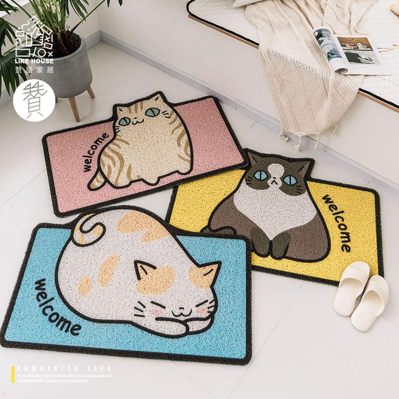 丝圈猫咪卡通地垫进门地垫卧室卫生间地垫子地垫防滑防尘防水地垫淘宝优惠券