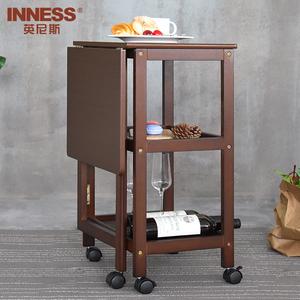 英尼斯 折叠餐桌小户型 家用多功能简约现代伸缩移动小餐桌饭桌子