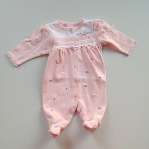 Spring and autumn girls pure cotton Jumpsuit embroidered lovely little princess Papa dress flaws