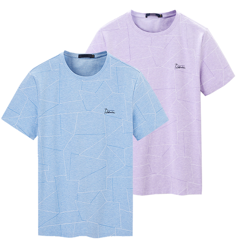 Hl22290 mens sea series summer thin round neck Casual Short Sleeve T-Shirt sea youth