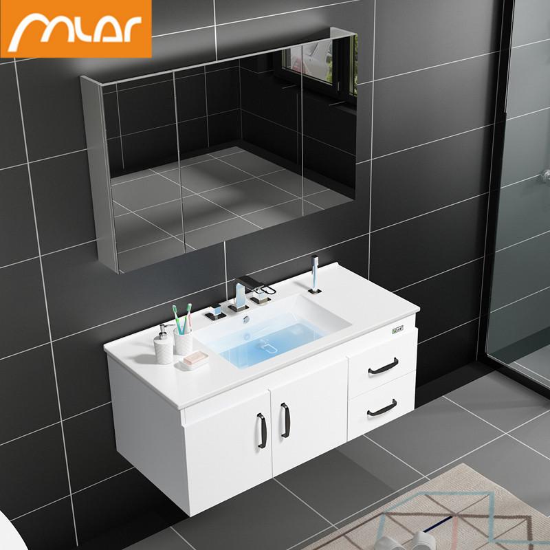 北欧浴室柜现代简约洗脸洗手盆柜组合卫生间洗漱台面盆实木卫浴柜10-22新券