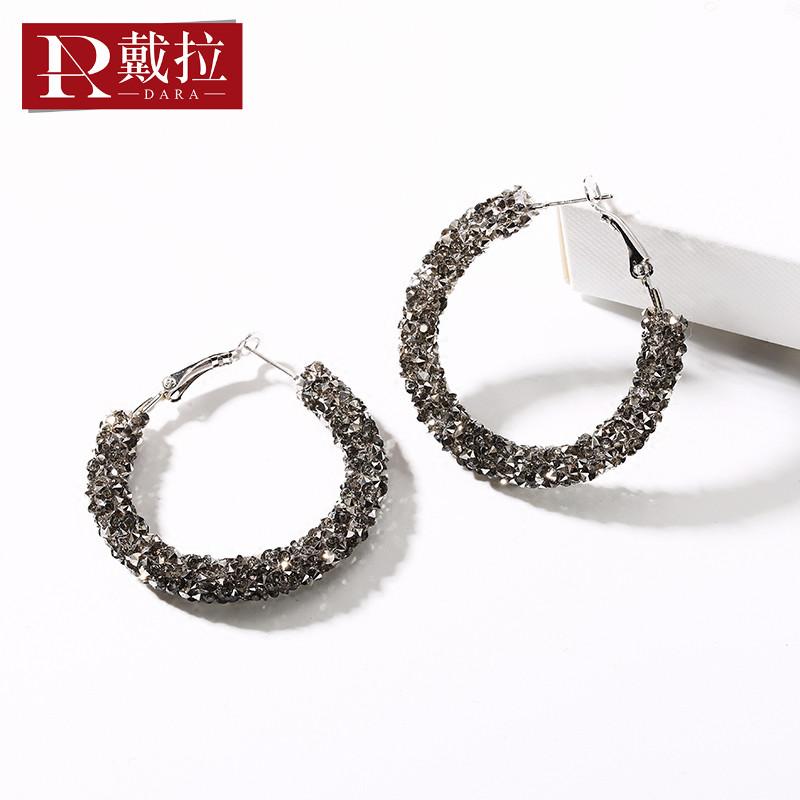 925银针夸张大耳环圈高级感网红2020新款潮韩国版气质耳饰法式女