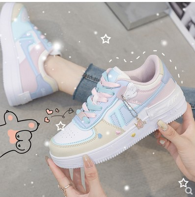 Official website Li Ning genuine summer retro low top womens shoes Cherry Blossom powder sports casual board shoes womens makalon small white shoes