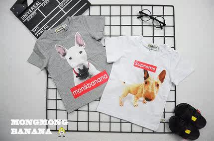 香港潮牌韩版 男童宝宝衣服夏款短袖童装1-2-3-4岁夏装儿童体恤