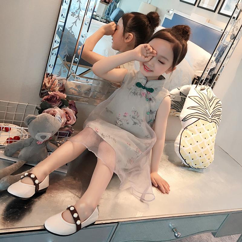 童装女童夏装2018新款连衣裙宝宝儿童洋气裙子小女孩民族风公主裙