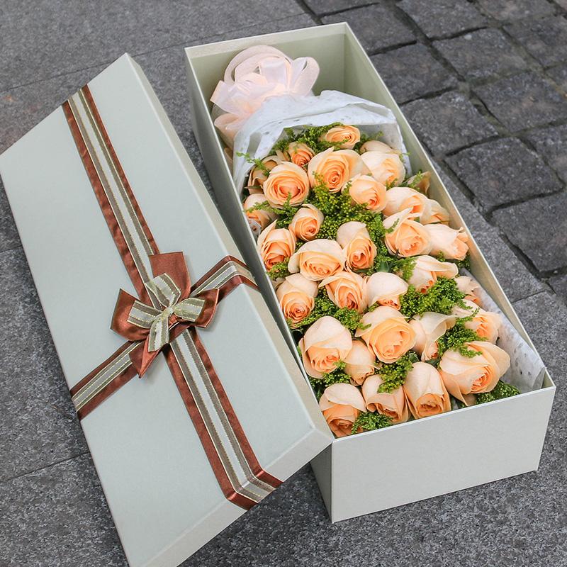 99朵红玫瑰花束礼盒鲜花速递咸宁同城咸安赤壁嘉鱼生日本地送花店