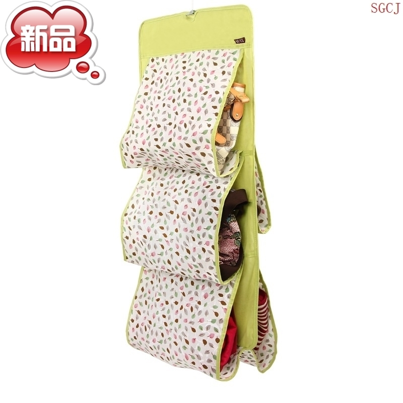 溢彩年华 双面加大五层包包收纳袋 可洗棉布包包收纳挂袋5格皮包