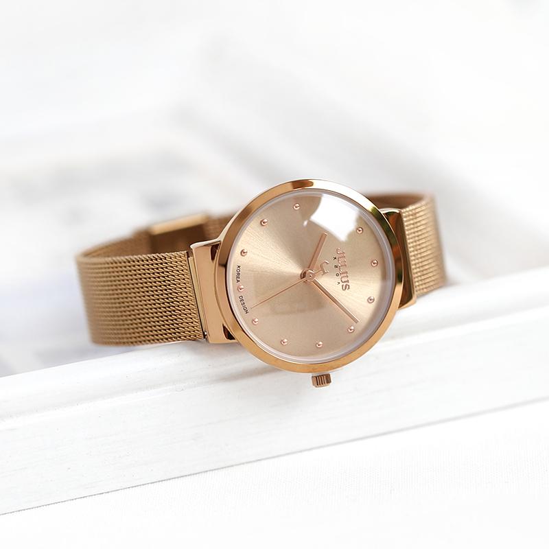 聚利時julius時尚日曆商務簡約表盤情侶手錶男女對錶石英男女表