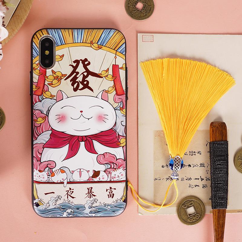 buer中国风新年xsmax转运xr苹果7p手机壳X猪年iPhone8本命6splus