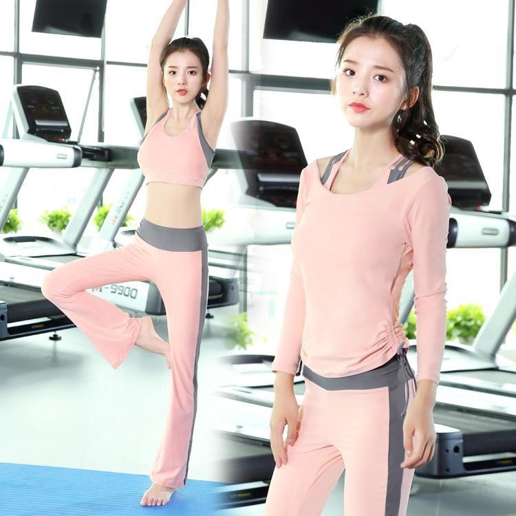 瑜伽服运动套装女春秋冬季专业健身房初学者舞蹈网红长袖气质仙气图片