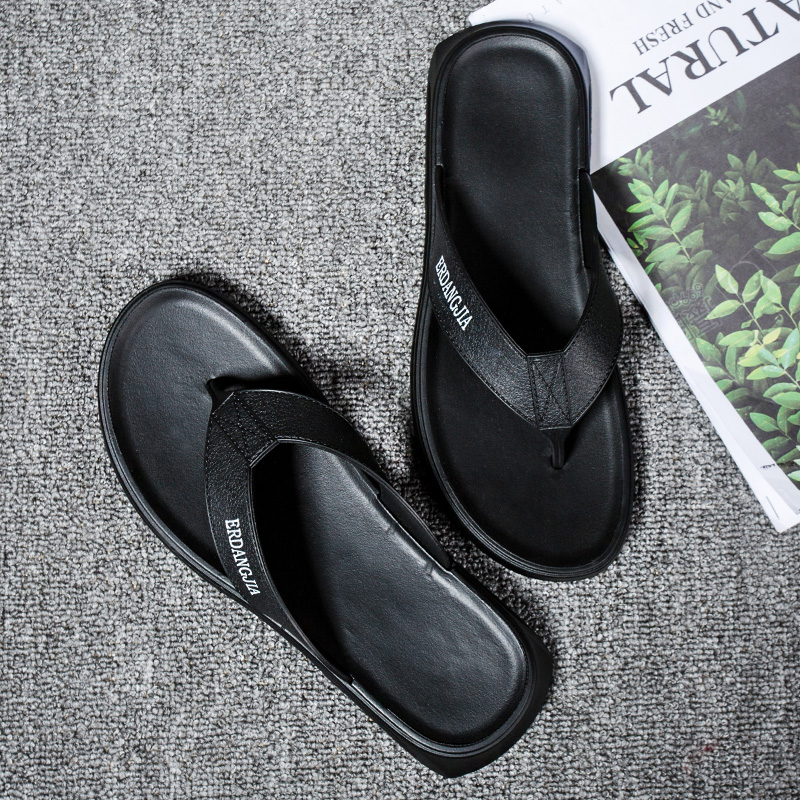 人字拖沙滩鞋男拖鞋外穿个性时尚厚底防滑防臭休闲室外夹脚凉拖潮