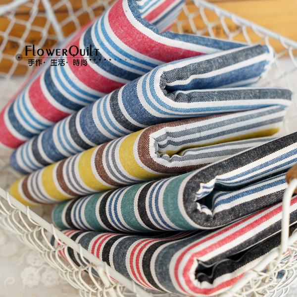 日本进口棉麻布---多姿条纹
