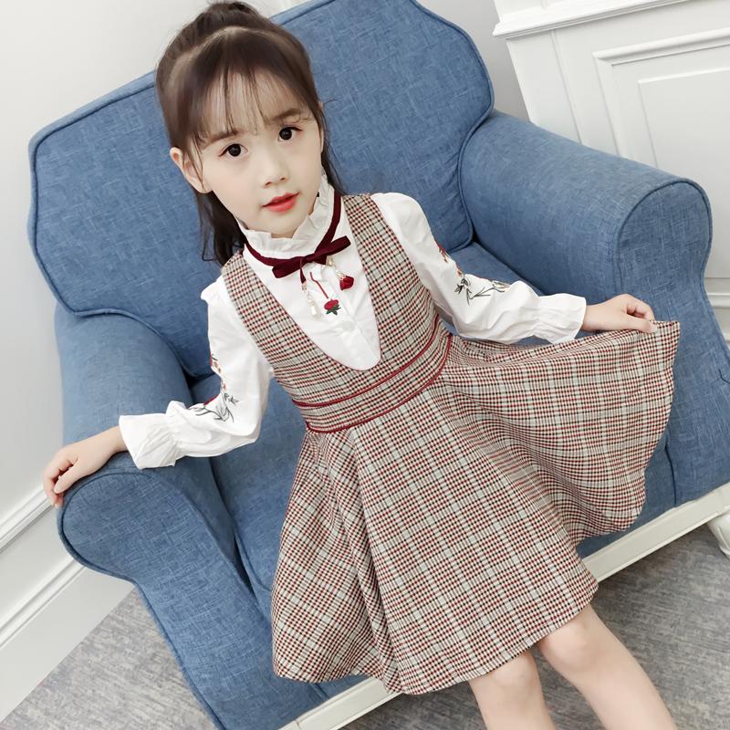 女童春装套装2019新款韩版潮衣中大儿童装春秋款3洋气5两件套12岁
