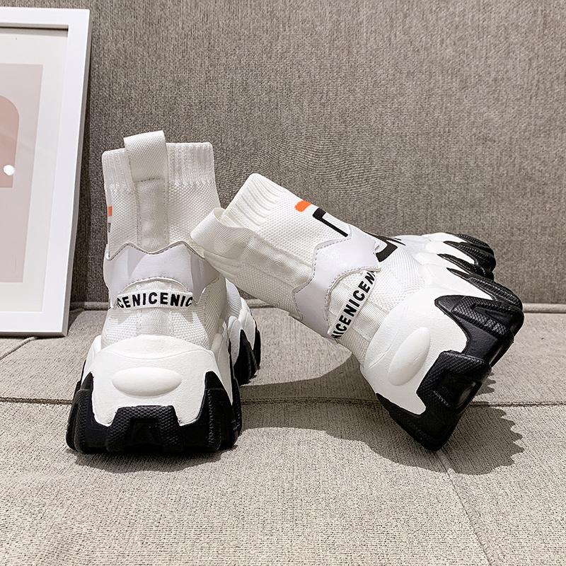 Женские ботинки на платформе / Высокие кроссовки Артикул 613199361262