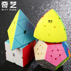奇艺魔方套装金字塔斜转枫叶五魔方粽子异形组合礼盒儿童益智玩具