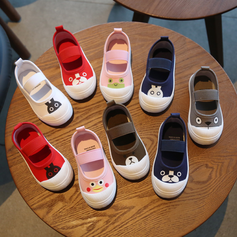 Hanni bear spring and autumn new childrens shoes baby single shoes childrens canvas shoes girls casual shoes boys board shoes cloth shoes